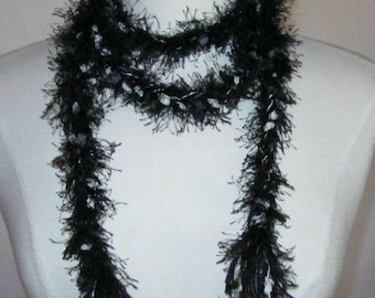 The Braided Knotty Scarf in Black and White