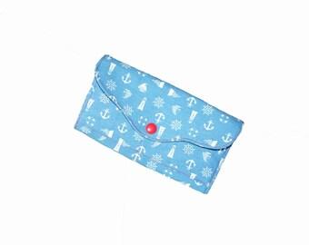 Ladies purse, Wallet, Big Purse, Fabric, Anchor