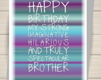 Brother card, brother's birthday, birthday card, birthday,
