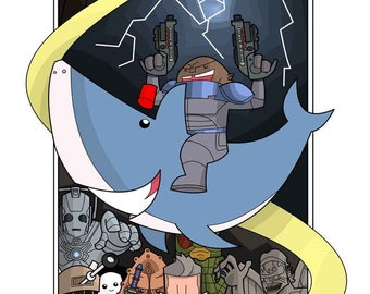 Strax and the Time Shark.