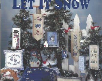 "Clearance-""Let It Snow"" Counted Cross Stitch Booklet by Mill Hill"