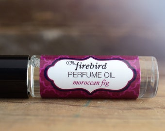 Moroccan Fig Perfume Oil - Fig Leaves, Ripe Fruit, Exotic Floral - Roll On Perfume