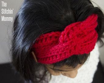 PDF Crochet Pattern - Love Me Knot Headband in 2 Sizes