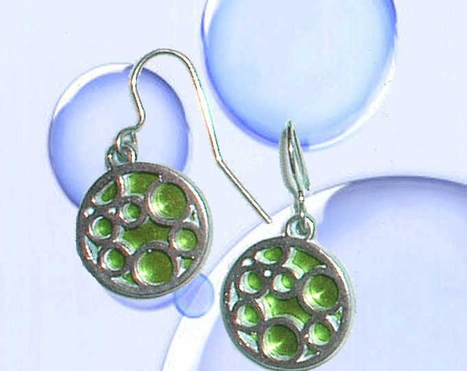 Small round bubble earrings