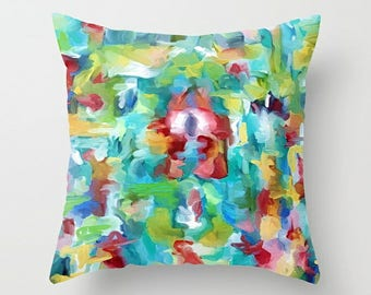 Throw Pillow Cover, Pillow Cover, Watercolor Pillow, Art Pillow, Couch Pillow, 16x16 18x18 20x20 24x24 26x26 36x36, Abstract Pillow