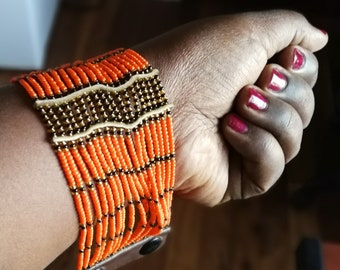 Beautiful African beaded bracelet for sale