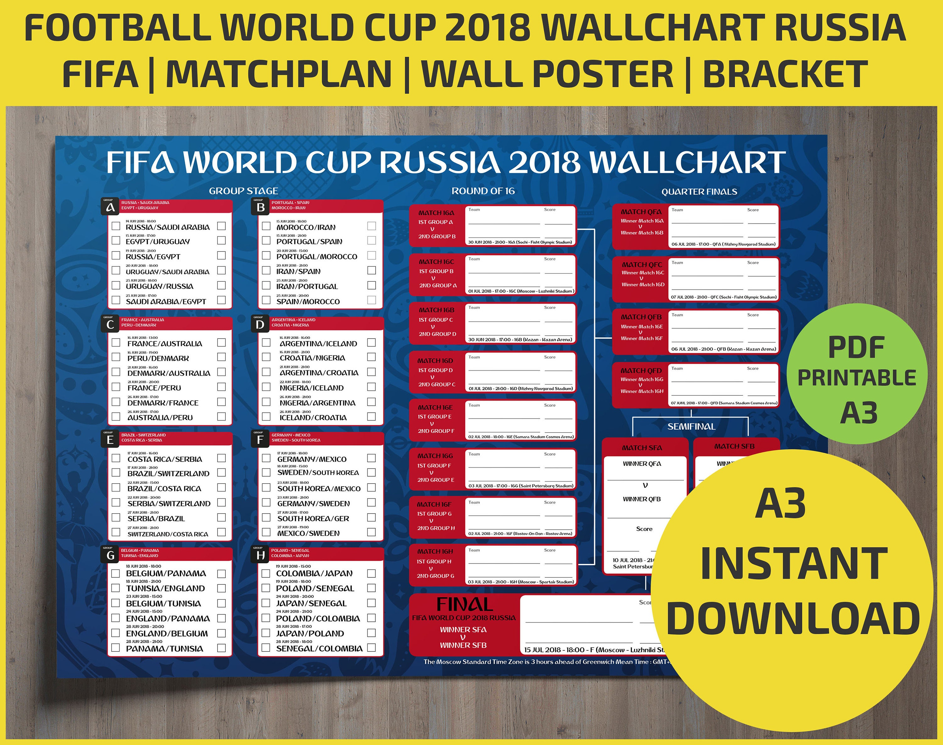 World Cup 2018 Playing Schedule