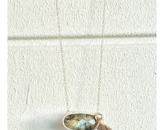 Labradorite on 14K Gold filled chain
