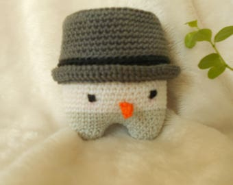 snowman blanket of snow