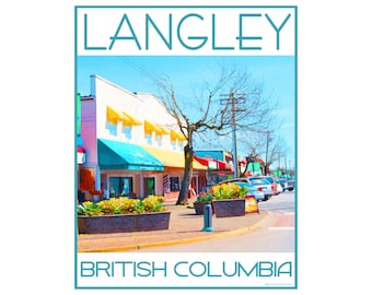 Langley B.C. - Love This Place Cityscape - Art Print on Paper - Home Decor Tourism Gift Photo TheJitterbugShop Vancouver