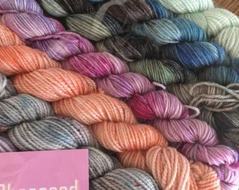 11x20g mini skeins of sock yarn in delicious ice cream colours