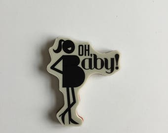 "Stampin Up Retired Cling Single Stamp ""Oh Baby"" Rubber Stamp, Brand New, Never Used!  Perfect for Baby Cards or Scrapbooking"