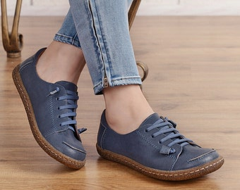 Leather Shoes for Women, Oxford Shoes, Close Shoes, Flat Shoes,Casual Shoes, Close Shoes