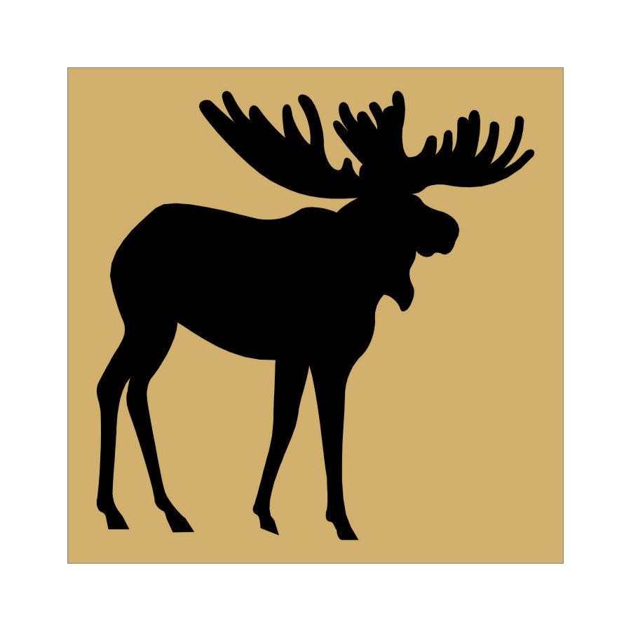 MOOSE stencil - 11 x 11 Stencil - Create signs and pillows, use ...
