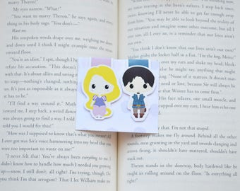 Tangled magnetic bookmarks