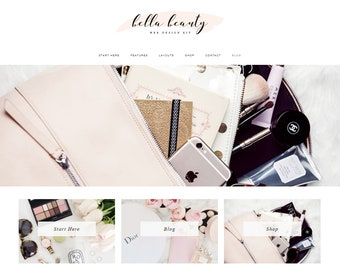 Responsive WordPress Theme | Bella Beauty Feminine Blog Design | WordPress Template | Genesis Child Theme