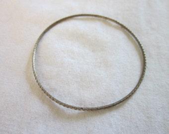Vintage Silver Tone Bangle Bracelet - Sparkly