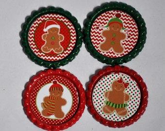 Gingerbread theme Bottle caps