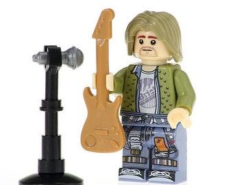 KURT COBAIN Grunge Icon Custom Minifigure 100% Lego Compatible!