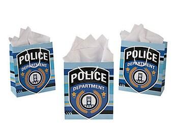 12/ Police Medium Gift Bags/ Favor bags / Treat bags