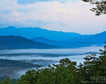 Blue Ridge Mountains Photo Print, Western North Carolina Asheville NC Mountain Photography Nature Wall Art Nature Inspired Misty Mountain
