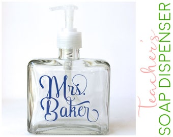 Personalized Soap Dispenser for Teacher - Design Suspends Inside Dispenser