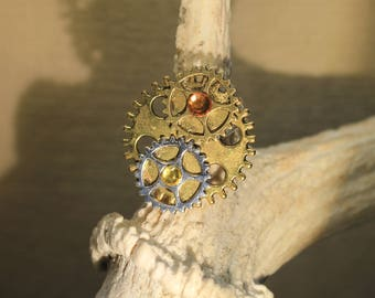 "Ring adjustable ""gear"" steampunk, retro, vintage"