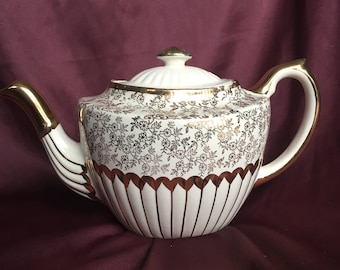 Gibsons Staffordshire England Gold Teapot