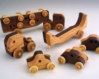 Transporter Handmade Wooden Toy Christmas Gift