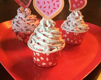 Valentines Day Fake Cupcakes