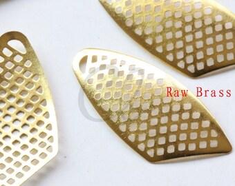 20pcs Raw Brass Filigree Link - 33.5x13.5mm (2027C-P-319)