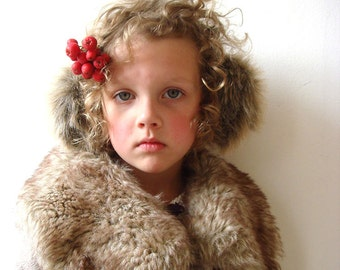 Girl ear muffs, winter fashion accessory, children earmuff, hat