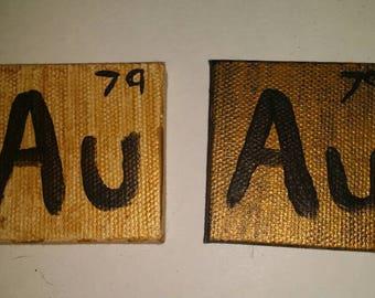 Au periodic table etsy gold scientific element au urtaz Images