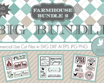 Farmhouse Style Crafter's Bundle LLBB003 - SVG - Cut File - Includes ai, svg (for Cricut) , dxf (for Silhouette users), png, jpg