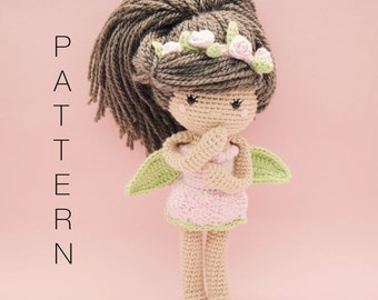 Amigurumi crochet doll pattern - Ava-Rose crochet doll PATTERN ONLY (English)