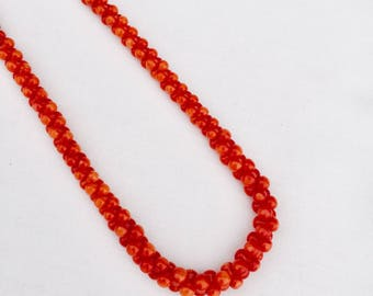 Graduated Red Coral Necklace 21""