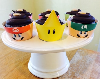 Super Mario Inspired Cupcake Wrappers