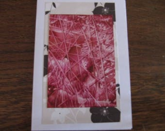 Original Encaustic Painting greeting card here or there 16