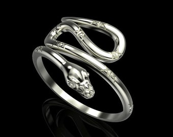 Snake Charmer Ring ***10k/14k White, Yellow, Rose Gold and Silver***