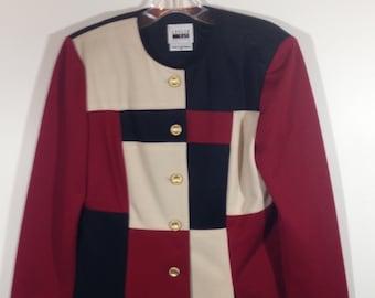 Vintage Leslie Fay Colorblock Blazer