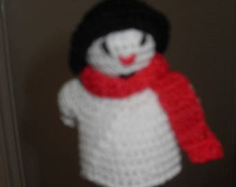 finger puppets: snowman