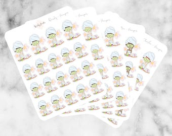J06 Pamper Stickers, Character Stickers, Planner Stickers, Planner Girl Stickers, Pamper Day Stickers, Beauty sticker, relax sticker,day off
