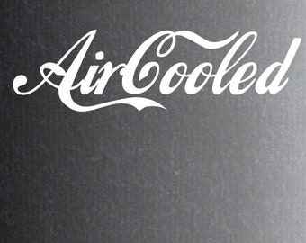 Aircooled sticker voor volkswagen.