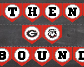 ATHENS BOUND Printable Banner! University Georgia UGA diy pennants high school college bound graduation party supplies tailgate decor