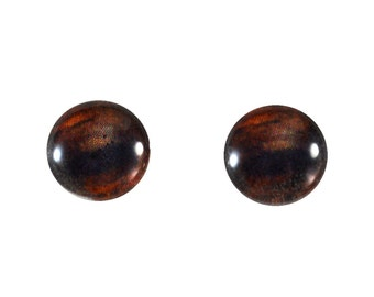 10mm Brown Glass Horse Eyes - Taxidermy Eyes for Doll or Jewelry Making - Set of 2