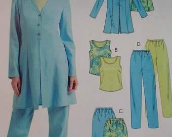 Mccalls M5026 Misses Unlined Jacket Top Skirt and Pants Pattern Misses Size 12 14 16 18 Semi Fitted Jacket Princess Seams Pullover Top