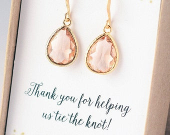 Bridesmaid Earrings SALE Bridesmaid Jewelry Gold Bridesmaid Gift Set Bridal Jewelry Set Bridal Earrings Gold
