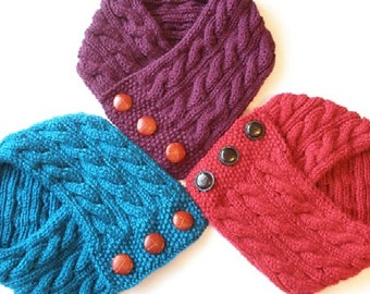 Cabled Neck Warmer Knitting Pattern PDF -- Permission granted to sell the ones you make -- INSTANT DOWNLOAD