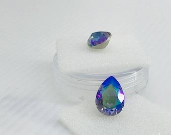 Swarovski 4320 14/10 Pear Shape in Crystal Paradise Shine