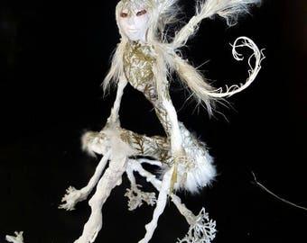 """Botanical Root Faerie """"Frostbite"""" - OOAK - Forest Nymph - Folk - Vintage"""